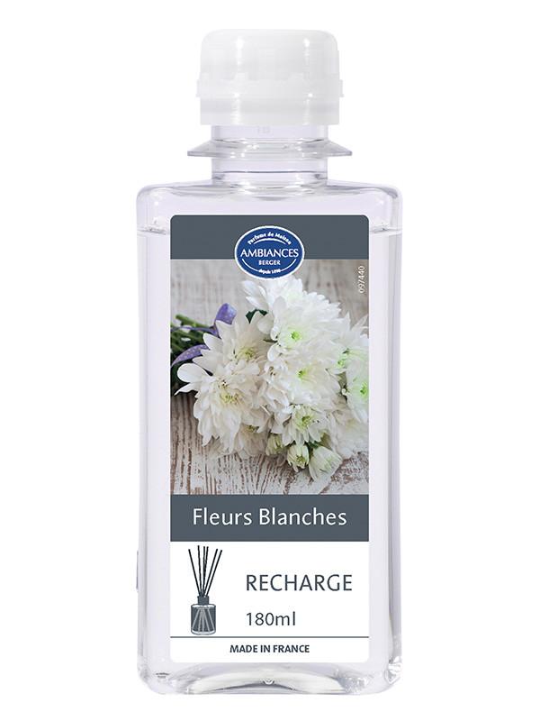 recharge brin fleurs blanches de pyr 233 n 233 es 180 ml recharges brins de parfum le berger shop